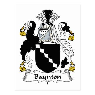 Baynton Family Crest Postcard