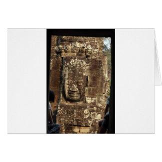 Bayon face Angkor Thom Cambodia Greeting Card