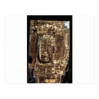 Bayon face Angkor Thom Cambodia Postcard
