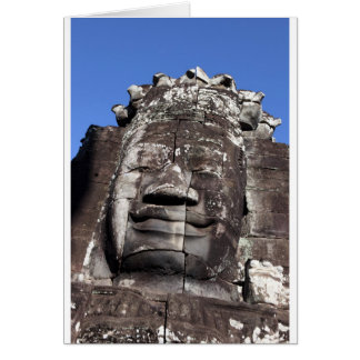 Bayon face sculpture Angkor Thom, Siem Reap Card