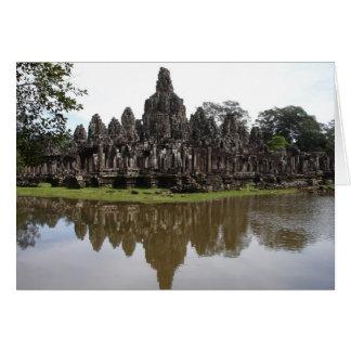 Bayon Temple at Angkok Wat in Cambodia Card