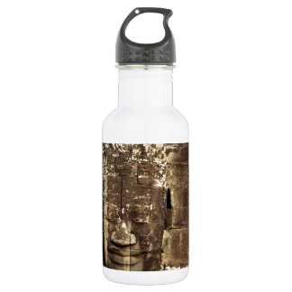 Bayon temple face Angkor Thom, Siem Reap Stainless Steel Water Bottle