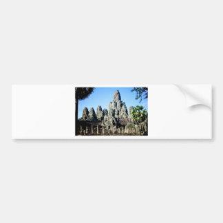 Bayon Temple in Angkor, Cambodia Bumper Stickers