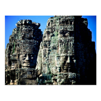 Bayon Temple in Angkor Cambodia two faces Postcard