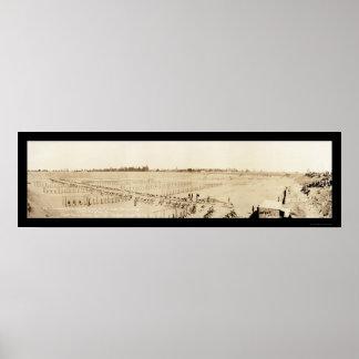 Bayonet Drill Augusta Photo 1918 Poster