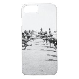 Bayonet practice. Camp Bowie_War Image iPhone 8/7 Case