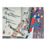 Bayonetas japonesas por Kobayashi, Kiyochika Postales