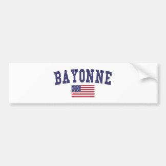 Bayonne US Flag Bumper Sticker