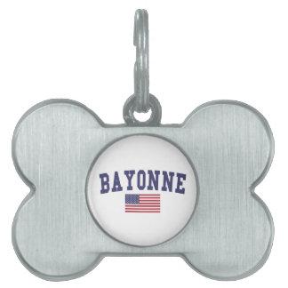 Bayonne US Flag Pet Name Tag