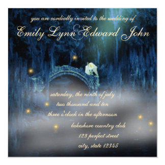 Bayou Bliss Blonde Wedding Invitation