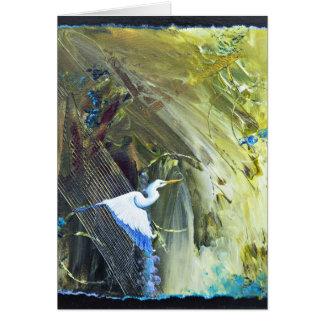 Bayou Bliss I White Heron Card