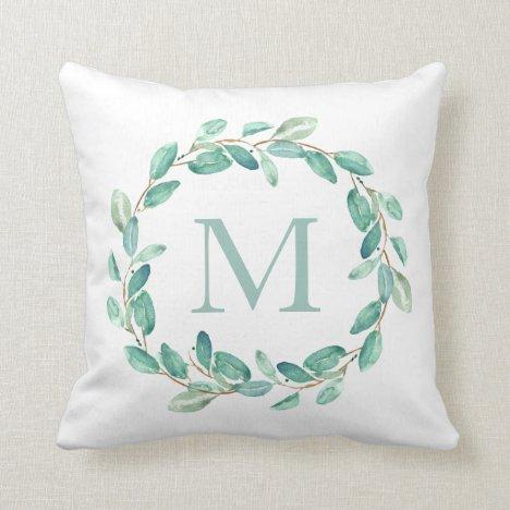 Bayou Botanicals Monogram Throw Pillow