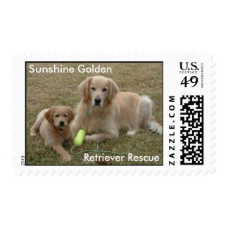 Bayou Stamps, Sunshine Golden Retriever Rescue Postage Stamp