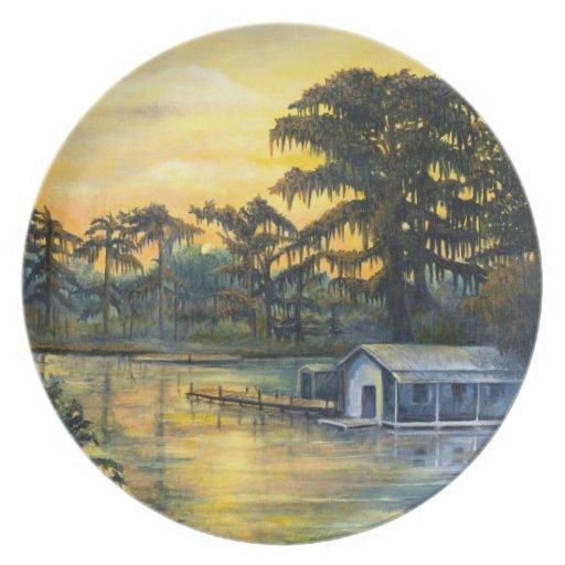 Bayou Sunset Plate