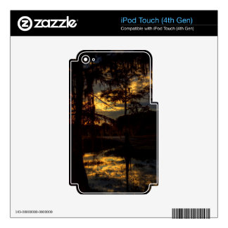 Bayou Sunset Reflection Skins For iPod Touch 4G