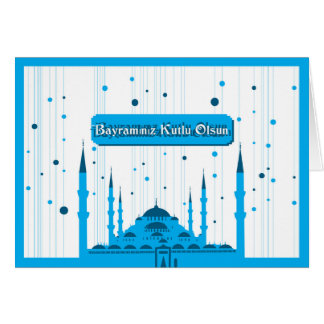 "Bayraminiz Kutlu Olsun el | ""Eid Mubarak"" en turco Tarjeta Pequeña"