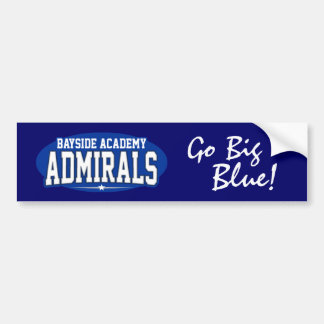Bayside Academy High School; Admirals Car Bumper Sticker
