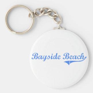Bayside Beach Maryland Classic Design Keychain