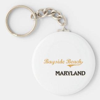 Bayside Beach Maryland Classic Keychains