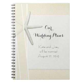 Bayside Beach Themed Wedding Planner Memory Book Notebook