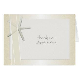 Bayside dobló el boda de encargo le agradece las tarjeta pequeña