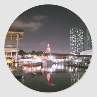 Bayside Market place Miami Classic Round Sticker