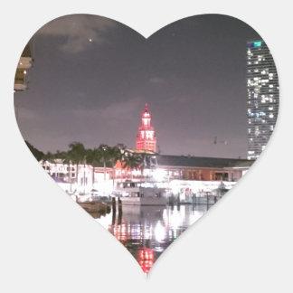 Bayside Market place Miami Heart Sticker