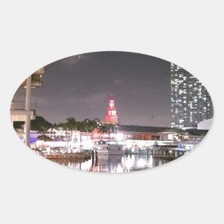 Bayside Market place Miami Oval Sticker