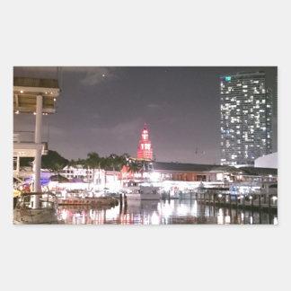 Bayside Market place Miami Rectangular Sticker