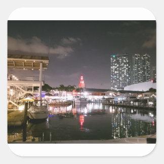 Bayside Market place Miami Square Sticker