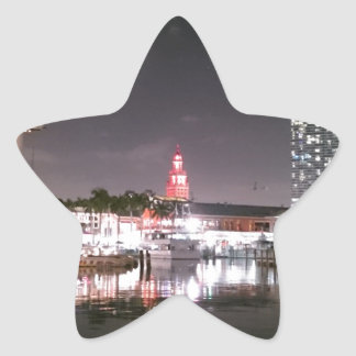 Bayside Market place Miami Star Sticker