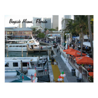 Bayside Miami, Florida Postcard