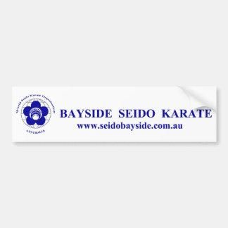 Bayside Seido Karate Car Bumper Sticker