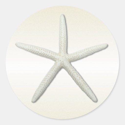 Bayside Single Starfish Round Sticker