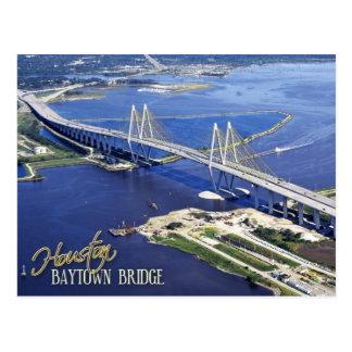 Baytown Bridge Houston Ship Channel Texas Postcard