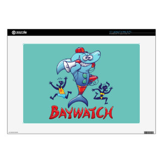 "Baywatch Shark Decals For 15"" Laptops"