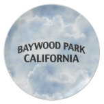 Baywood Park California Party Plate