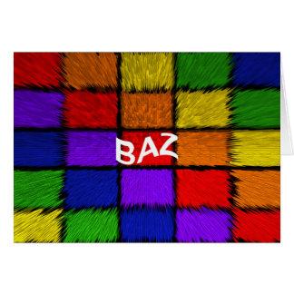 BAZ ( male names ) Card