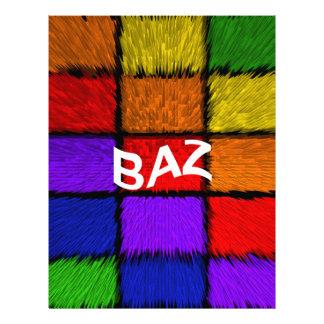 BAZ ( male names ) Letterhead