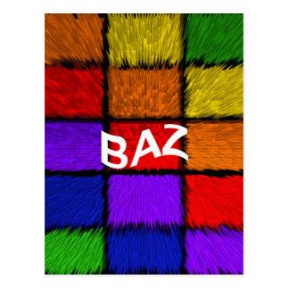 BAZ ( male names ) Postcard