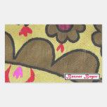 Bazaar Bayar Golden Suzani Rectangular Sticker