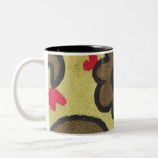 Bazaar Bayar Golden Suzani Two-Tone Coffee Mug