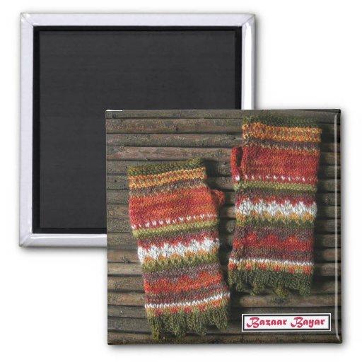 Bazaar Bayar Knitted Fingerless Gloves Magnets