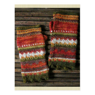 Bazaar Bayar Knitted Fingerless Gloves Postcard