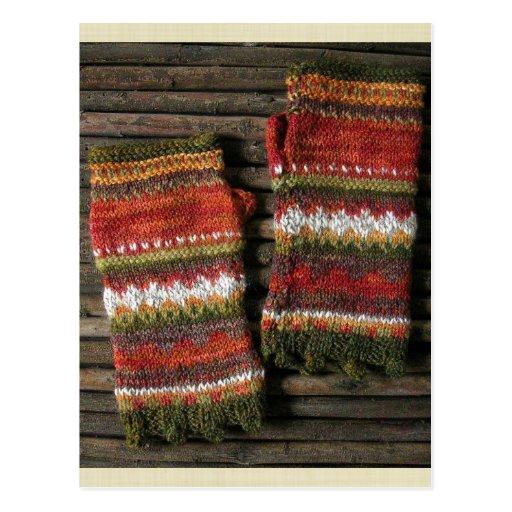 Bazaar Bayar Knitted Fingerless Gloves Postcards