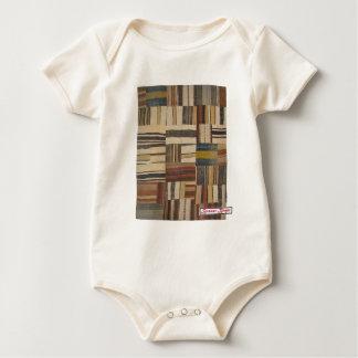Bazaar Bayar Recycled Rug Chocolate Baby Bodysuit