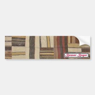 Bazaar Bayar Recycled Rug Chocolate Bumper Sticker