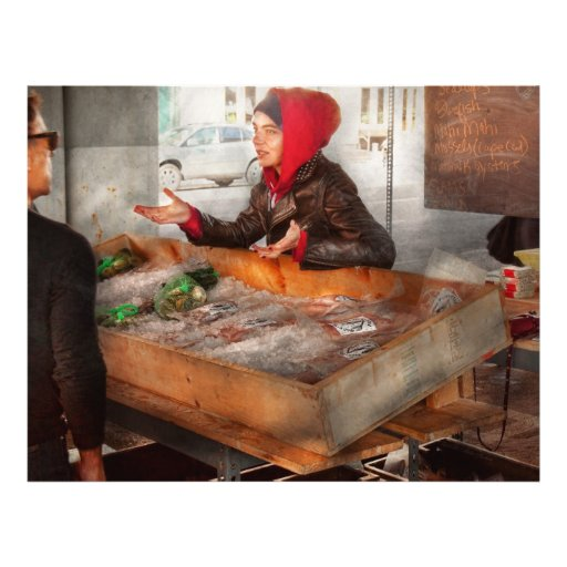 Bazaar - I sell fish Full Color Flyer