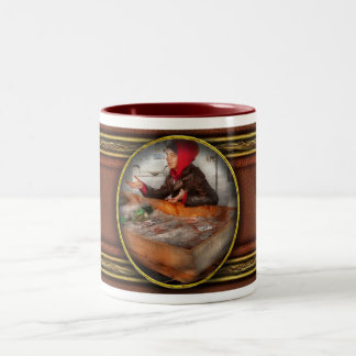 Bazaar - I sell fish Two-Tone Coffee Mug