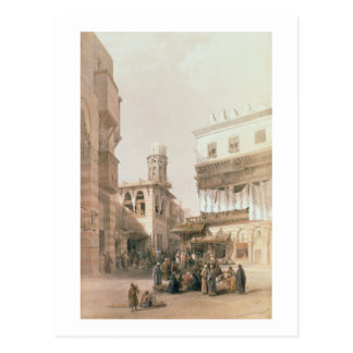 """Bazaar of the Coppersmiths, Cairo, from """"Egypt and Postcard"""